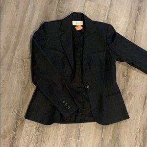 Cassidy Pinstriped Blazer Dark Gray Size 4